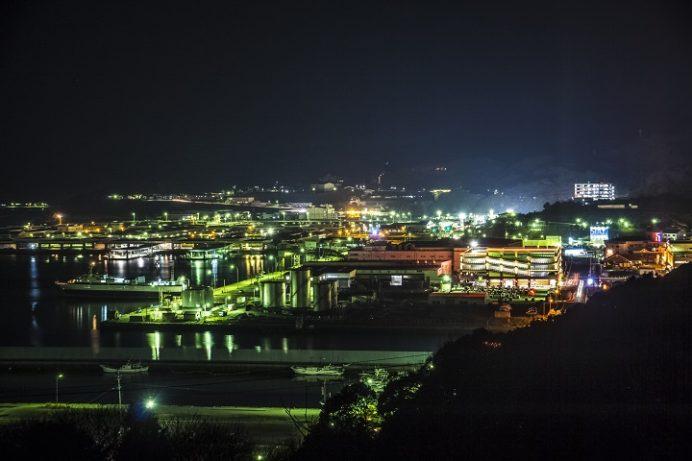 三京南公園(長崎市三京町、三重地区)の夜景