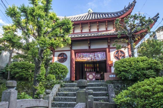 唐人屋敷跡の土神堂(長崎市館内町)