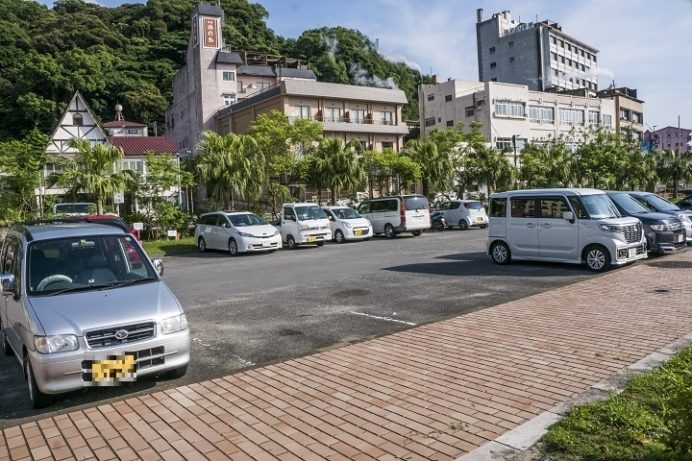 小浜温泉足湯ほっとふっと105(長崎県雲仙市)の駐車場