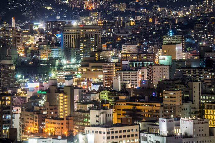 どんの山公園からの長崎の夜景