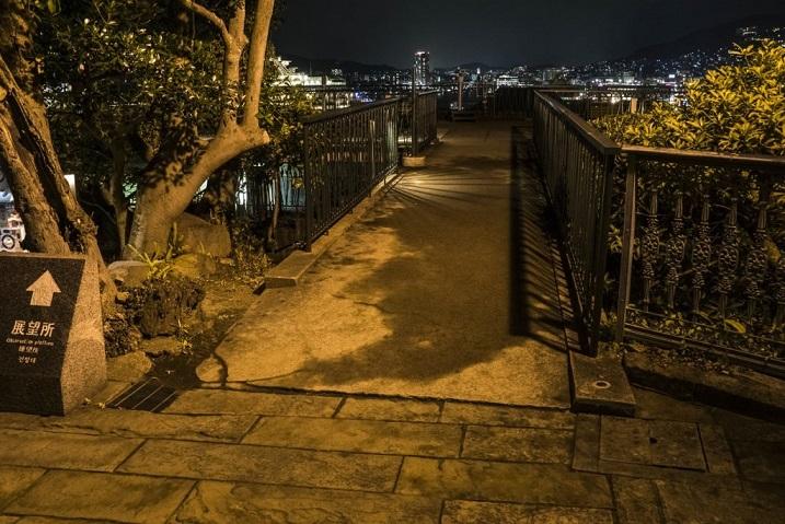 グラバー園の夜間開園(展望所)