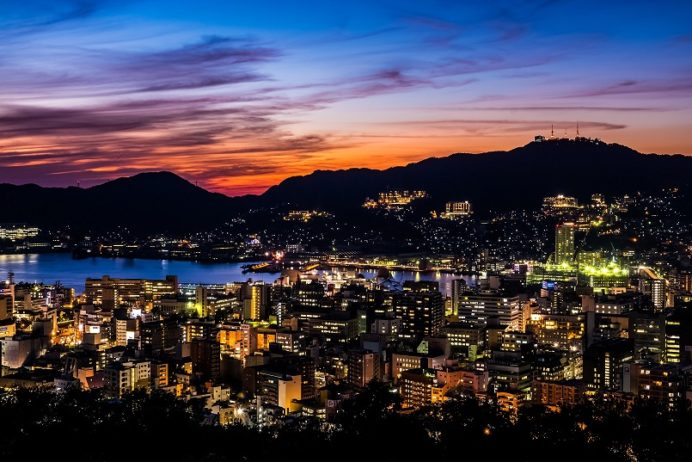 風頭公園(伊良林町)からの長崎の夜景