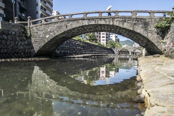 中島川石橋群(袋橋と眼鏡橋)