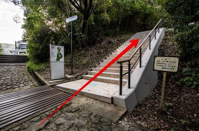 鍋冠山展望台への徒歩ルート