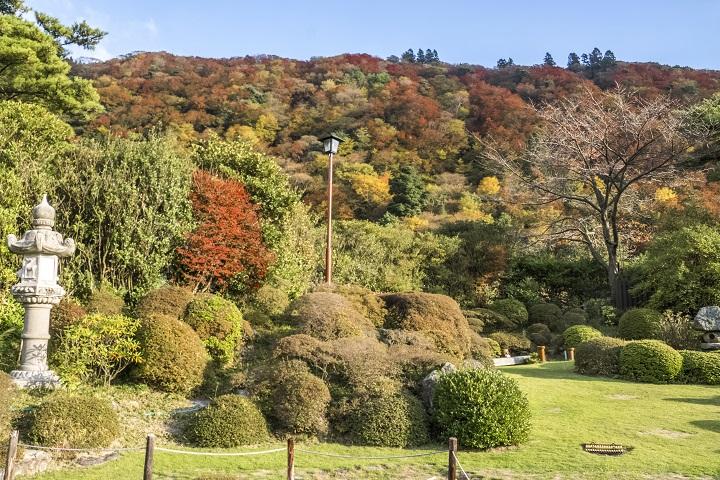 雲仙宮崎旅館 庭園(雲仙地獄)、紅葉