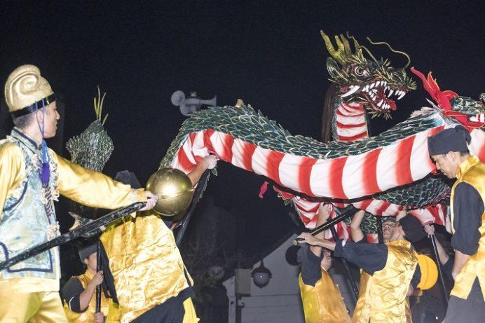 長崎中華街 中秋節の龍踊り