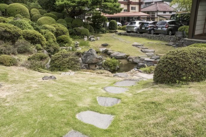 雲仙宮崎旅館 庭園(雲仙地獄)