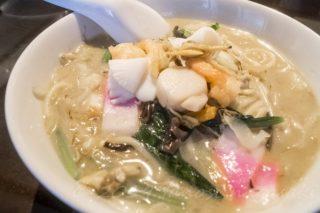 「紅灯記でちゃんぽん」【ミシュラン掲載店】~海鮮スープに感激!