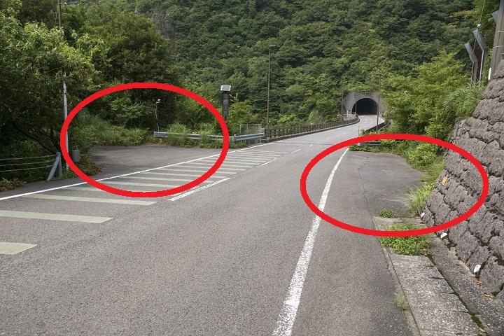 雲仙岳登山道(長崎県島原半島)の第2吹越トンネルの駐車場