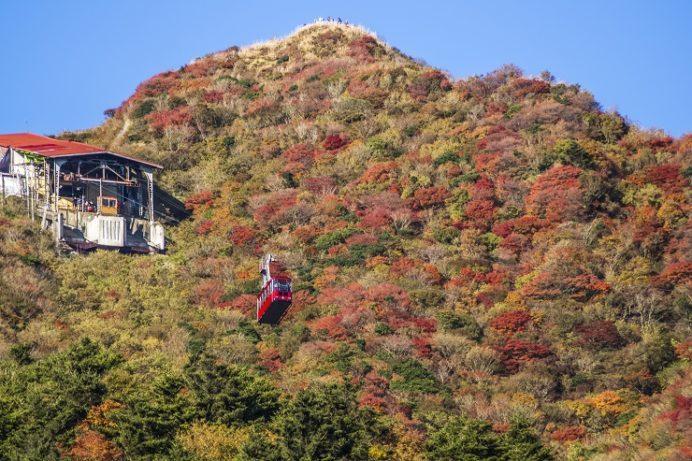 雲仙岳登山道(長崎県島原半島)、妙見岳の紅葉