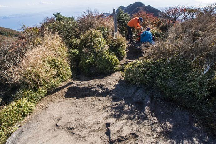 雲仙岳登山道(長崎県島原半島)、国見岳の紅葉