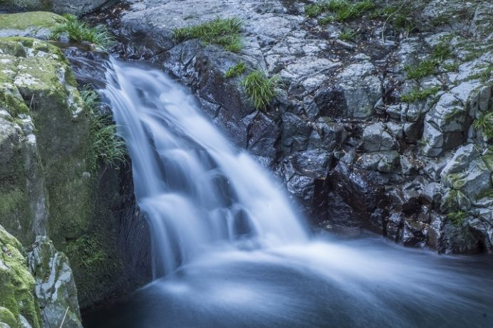渓流(長崎県諫早市高来町)の白布の滝