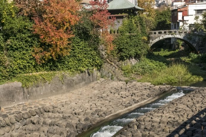 桃溪橋(中島川石橋群)の紅葉