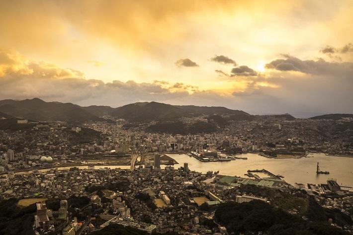 稲佐山展望台からの初日の出(朝日)2015