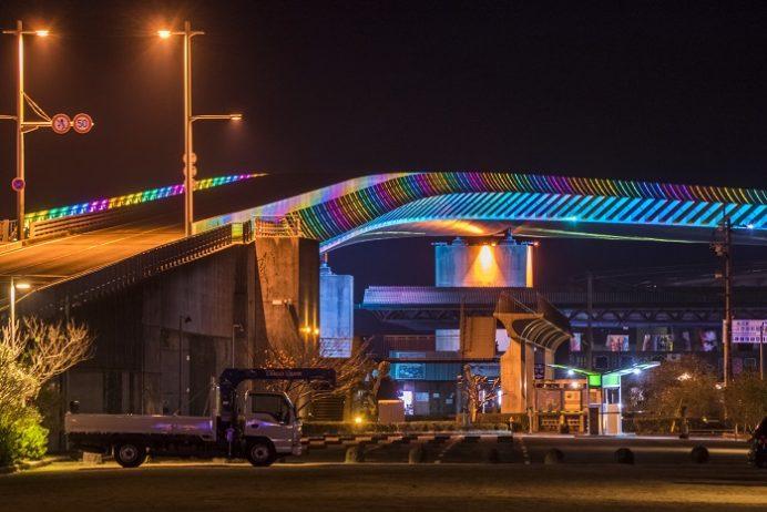 牛深ハイヤ大橋(熊本県天草)のイルミネーション