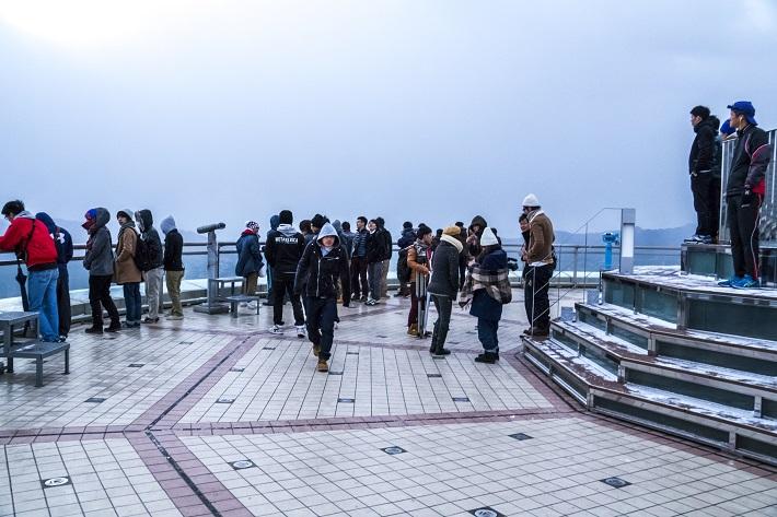 稲佐山展望台からの初日の出(朝日)2015、7:30