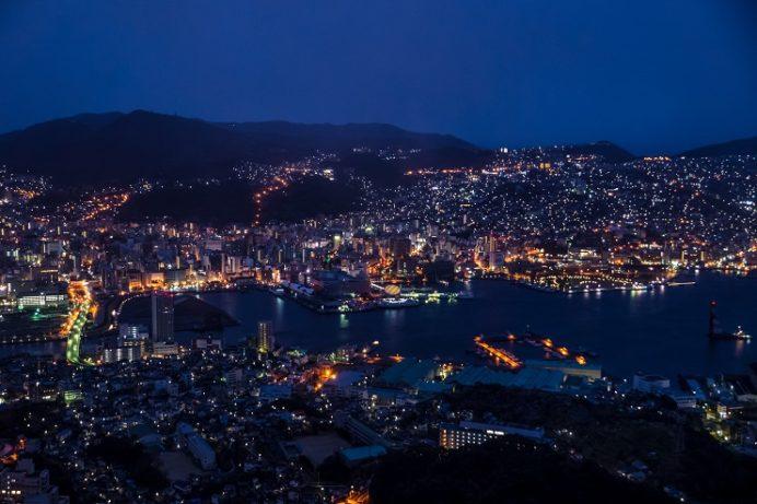 稲佐山展望台からの初日の出(朝日)2015.6:50