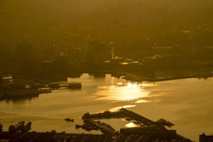 稲佐山展望台からの初日の出(朝日)2016