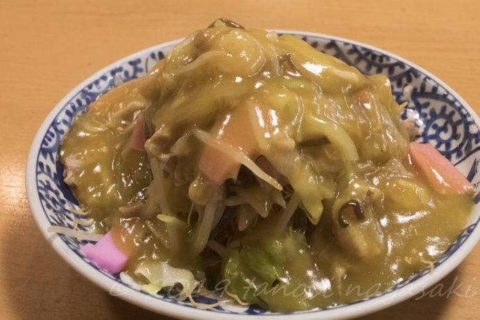 中華和風料理 満福(長崎市本石灰町、思案橋横丁)のカレー皿うどん