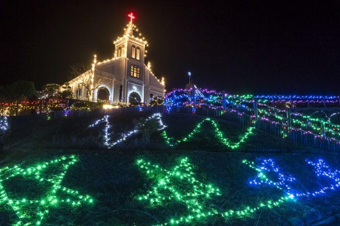 大江教会(熊本県天草市)のイルミネーション