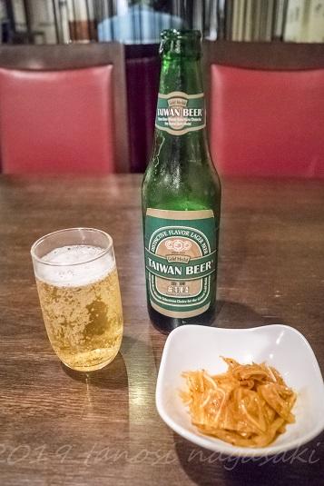 老李(ラオリー) 新地中華街本店の台湾ビール