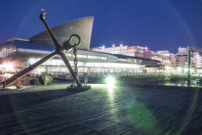 長崎港ターミナルビルからの夜景