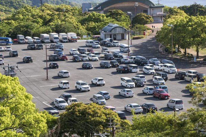 稲佐山中腹駐車場(長崎市)