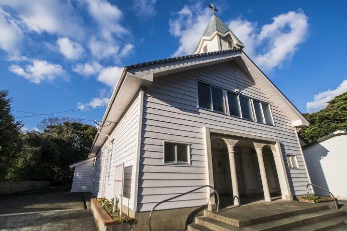 貝津教会(長崎県五島市三井楽町)