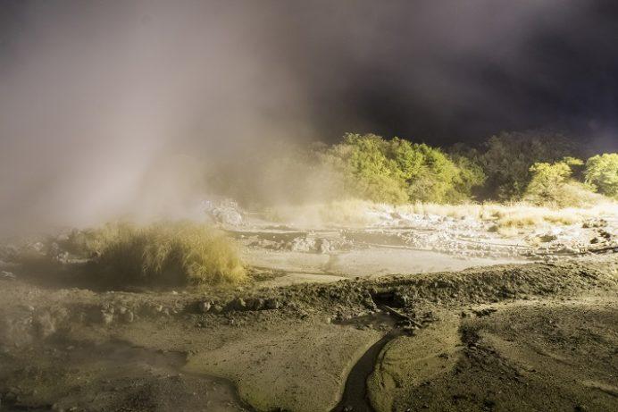 雲仙地獄(長崎県雲仙市小浜町)、ライトアップ