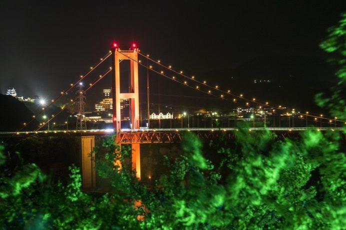 田平公園(平戸市田平町)の桜と花見、夜景