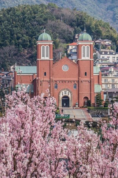 浦上天主堂(平和公園そば)、天主堂の見える丘