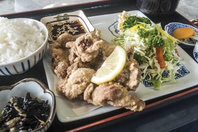 お食事処 いち望(長崎市以下宿町)の鶏のから揚げ定食