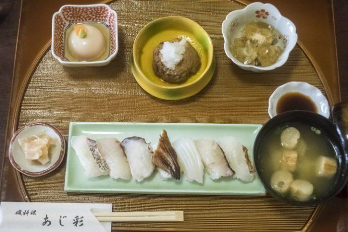 磯料理 あじ彩(諫早市森山町唐比西)の寿司御膳