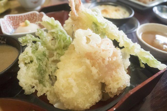 磯料理 あじ彩(諫早市森山町唐比西)の天ぷらお楽しみ膳、ランチ
