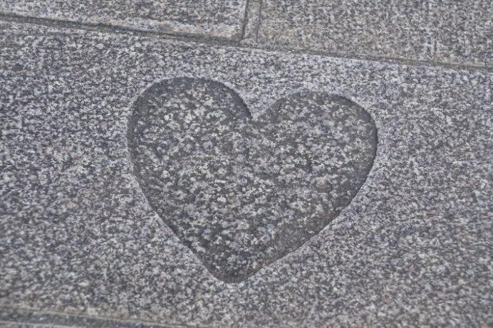 みらい長崎ココウォーク(長崎市茂里町)のハートストーン