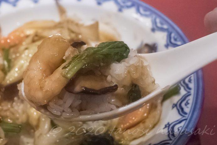 中国料理 紅灯記(長崎市万才町)、ミシュラン掲載店の中華丼