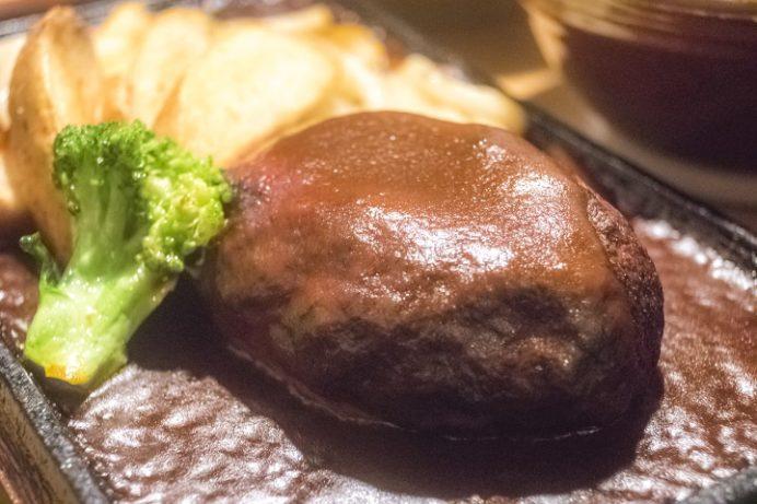 地どり屋 茂助どん(長崎市小江原)の鶏100%ハンバーグ定食