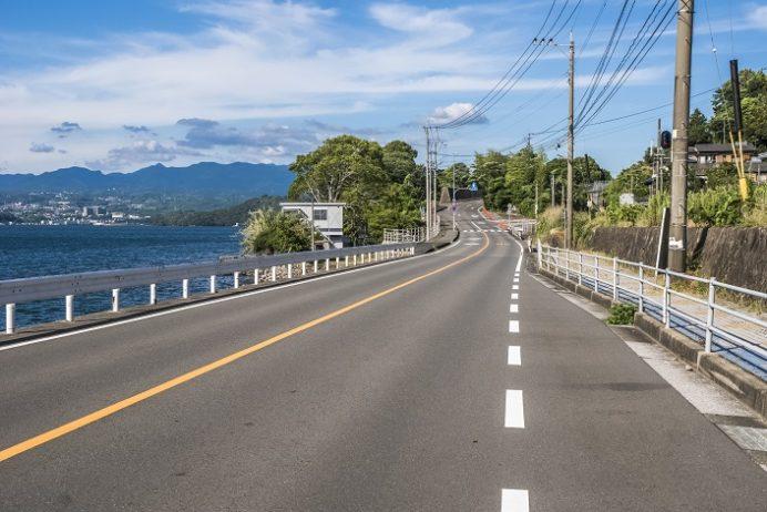 国道207号線(長崎県諫早市多良見)の風景