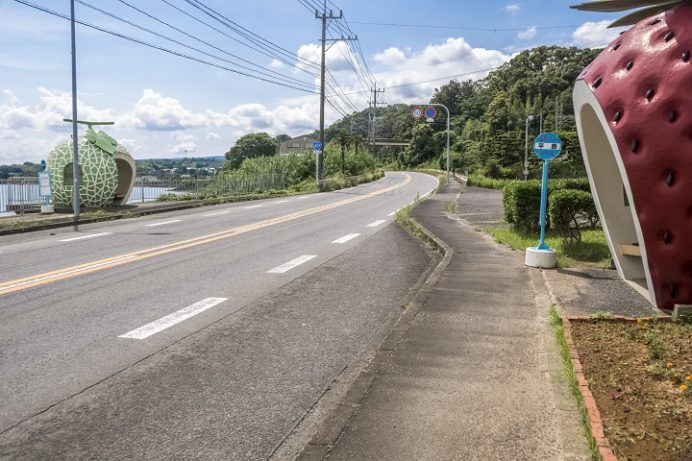 フルーツバス停(諫早市)