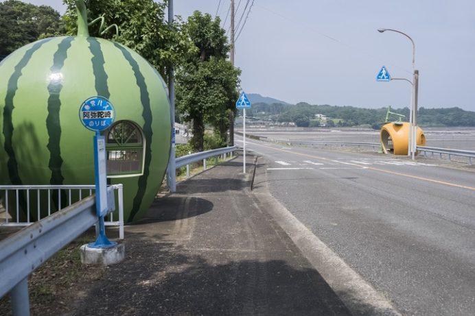 フルーツバス停(長崎県諫早市小長井)