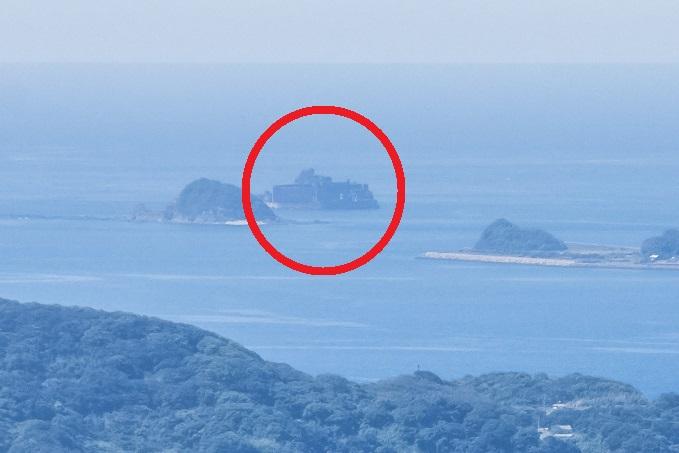 稲佐山展望台からの軍艦島
