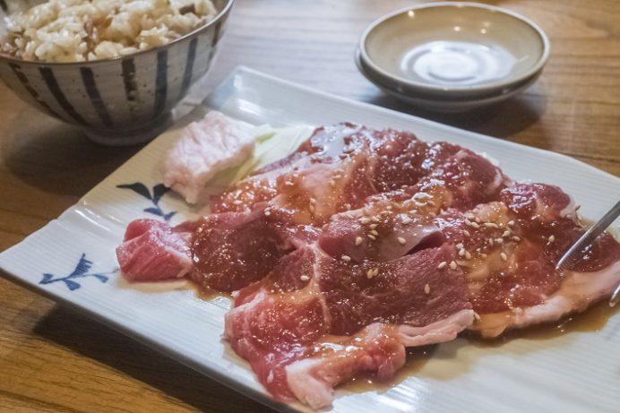 鳥むら食堂(諫早市川床町)のラム肉ジンギスカンラン