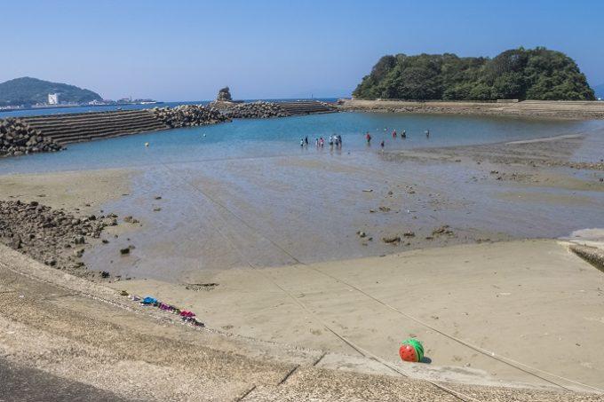 辰ノ口海水浴場【香焼の穴場】~駐車場は無料&シャワーあり!