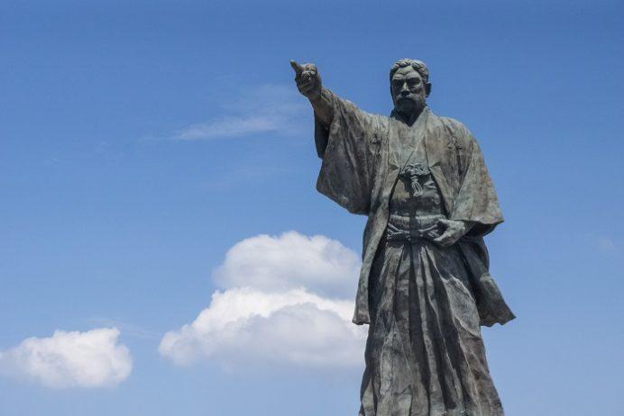 高島(長崎市高島町)、岩崎彌太郎之像