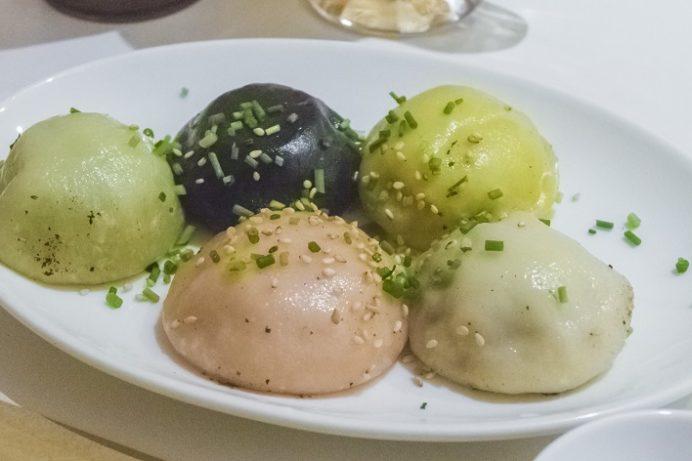 長崎燒小籠包 チャイデリカ(長崎中華街そば)、焼小籠包5種盛合せ