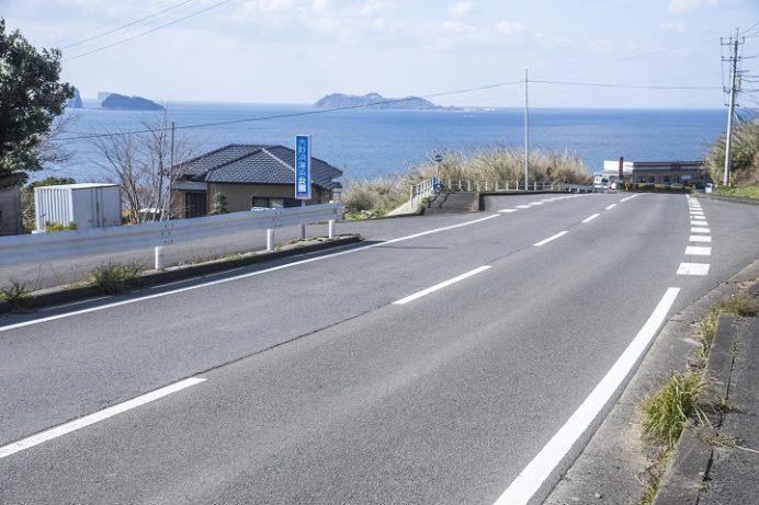 国道202号線、外海からの絶景
