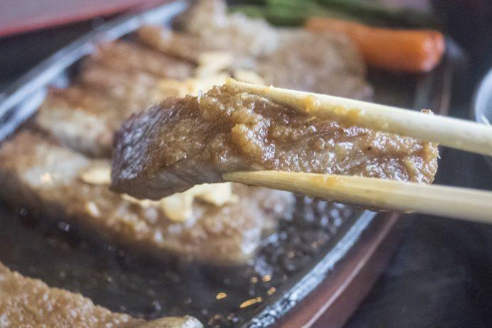 焼肉おがわ(諫早市松里町)のサーロインステーキ