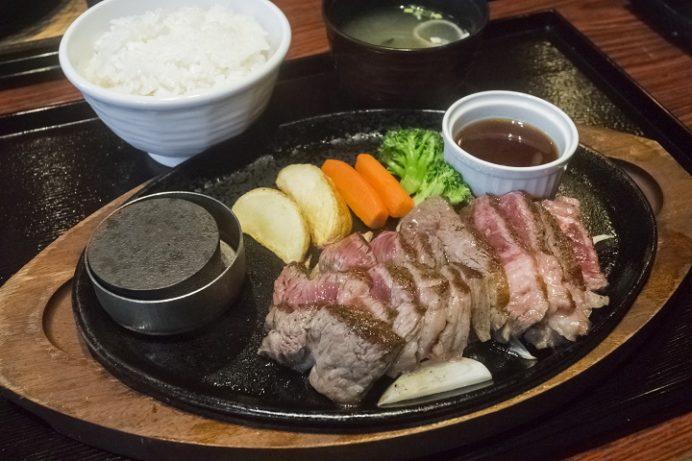 ハンバーグ専門 つばきグリル(東長崎地区、長崎市中里町)のステーキ