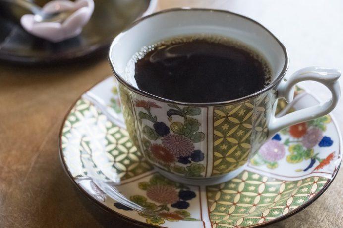 かんざらしの名店 銀水(長崎県島原市白土桃山)、コーヒー