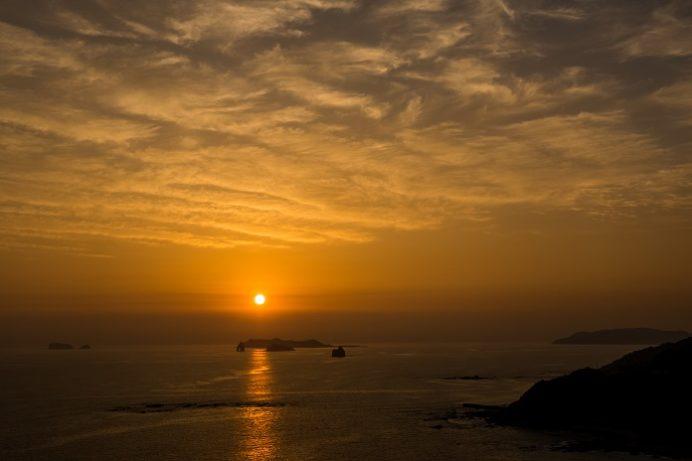 夕陽が丘そとめ(長崎市外海の夕日)